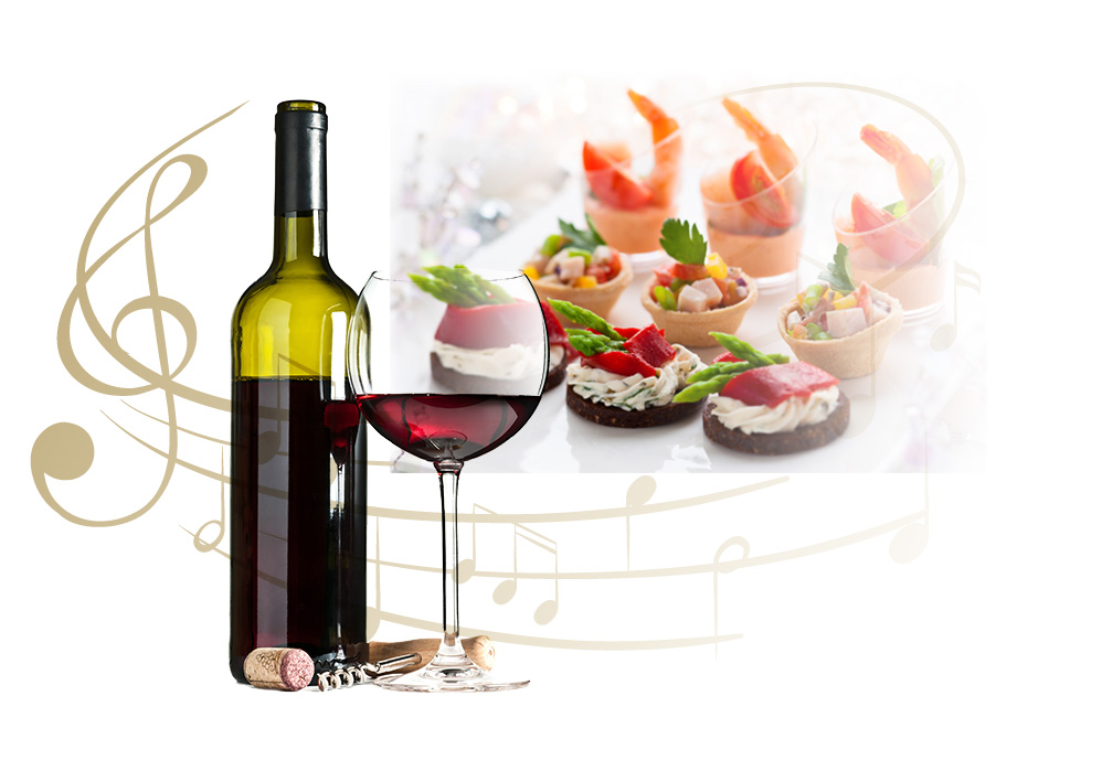 Music, Wine, Hors d'oeuvres